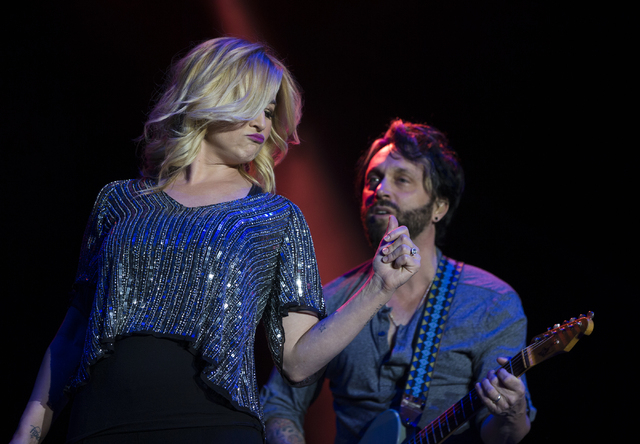 "Kellie Pickler performs during the first day of the American Country Music's ""Party for a Cause,"" event at the Las Vegas Festival Grounds on Friday, April 1, 2016 in Las Vegas. B ..."