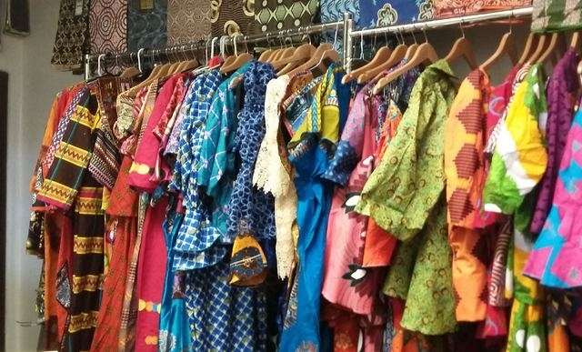 Colorful clothing is displayed inside the African/Caribbean International Market, 4640 W. Charleston Blvd. Ginger Meurer/Special to View