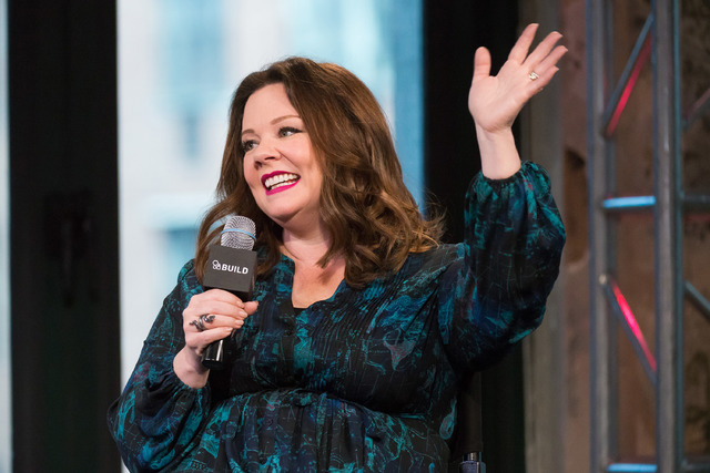 "Melissa McCarthy participates in AOL's BUILD speaker series to discuss her new film ""The Boss"" at AOL Studios on Wednesday, April 6, 2016, in New York. (Charles Sykes/Invision/AP)"