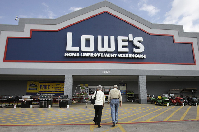 A Las Vegas woman sued Lowe's Home Centers for negligence, and her lawyers plan to seek hefty punitive damages in the case, which went to trial this week.  (AP Photo/LM Otero)
