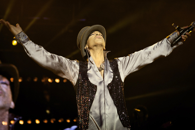Prince performs on the Isle of Amager in Copenhagen, Denmark, on Aug. 6, 2011. (AP Photo/Polfoto/Jakob Joergensen)
