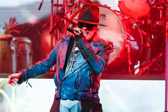 Axl Rose of Guns N' Roses performs at the 6th Annual Revolver Golden Gods Award Show at Club Nokia on April 23, 2014 in Los Angeles, California. (Photo by Paul A. Hebert/Invision/AP)
