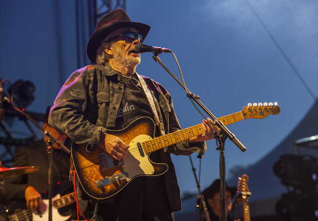 Merle Haggard seen at Riot Fest & Carnival in Douglas Park on Saturday, Sept. 12, 2015, in Chicago. (Barry Brecheisen/Invision/AP)