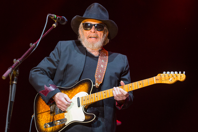 Merle Haggard performs on stage during the 2015 Stagecoach Festival at the Empire Club on April 24, 2015, in Indio, Calif. (Paul A. Hebert/Invision/AP)