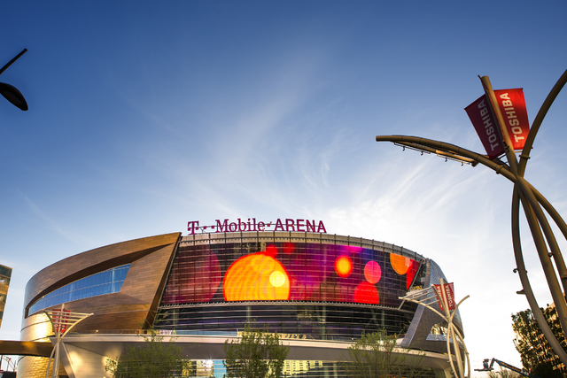 T-Mobile Arena is seen on Wednesday, March 23, 2016. Jeff Scheid/Las Vegas Review-Journal Follow @jlscheid