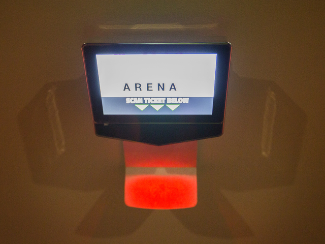 Ticket scanner for the executive suites is seen at the T-Mobile Arena on Saturday, March 12, 2016. Jeff Scheid/Las Vegas Review-Journal Follow @jlscheid