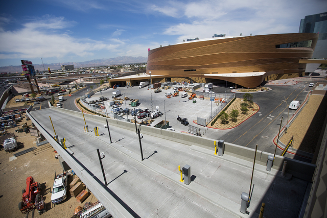 A new ramp leading to the New York-New York parking garage near T-Mobile Arena is seen on Monday, April 4, 2016.  Jeff Scheid/Las Vegas Review-Journal Follow @jlscheid