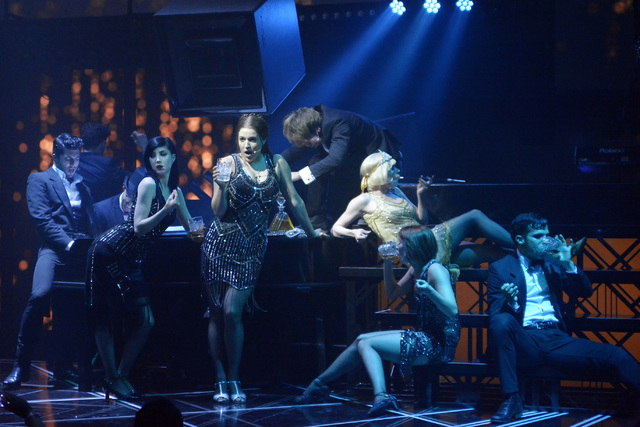 """Cast members from """"Baz"""" perform at Light nightclub in Mandalay Bay in June 2015. A rebooted version of the show will reopen this summer at the Palazzo. (Bill Hughes/Las Vegas Review-Journal)"""