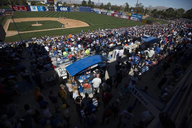 Fans are seen at Cashman Field on Friday, March 1, 2016, in Las Vegas. (Erik Verduzco/Las Vegas Review-Journal) Follow @Erik_Verduzco