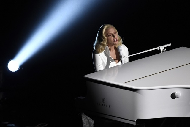 In this Feb. 2016 file photo, Lady Gaga performs at the Oscars at the Dolby Theatre in Los Angeles. (Chris Pizzello/Invision/AP)