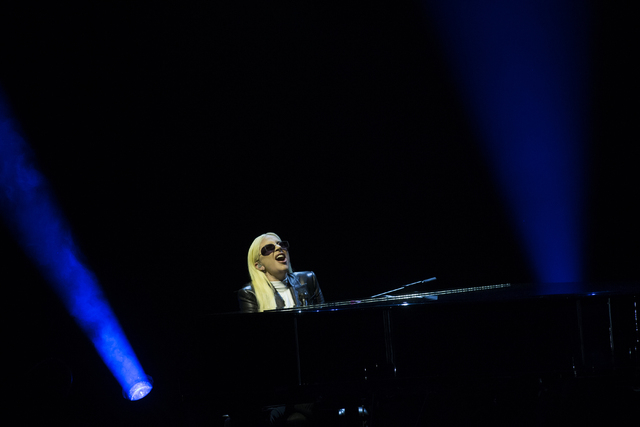 """Lady Gaga performs """"Til It Happens to You"""" during an event aimed at preventing sexual assault on college campuses in coordination with the It's On Us Week of Action, Thursday, April 7, 2016, at UN ..."""