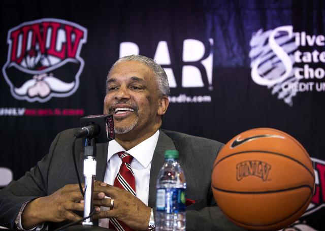 New UNLV men's basketball coach Marvin Menzies speaks during a press conference at Mendenhall Center on Friday, April 22, 2016. Jeff Scheid/Las Vegas Review-Journal Follow @jlscheid