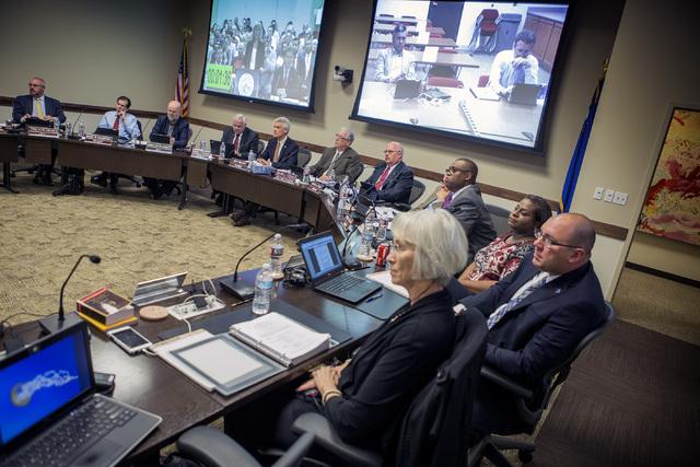 University of Nevada Board of Regents is shown meeting on Friday, April 8, 2016. (Jeff Scheid/Las Vegas Review-Journal Follow @jlscheid)