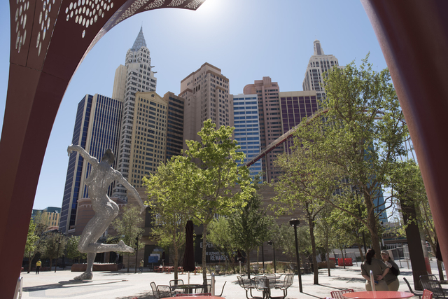 MGM Resorts International's The Park is seen in Las Vegas Sunday, April 3, 2016. The Park, which is adjacent to New York-New York hotel-casino, opens on Monday. Jason Ogulnik/Las Vegas Review-Journal