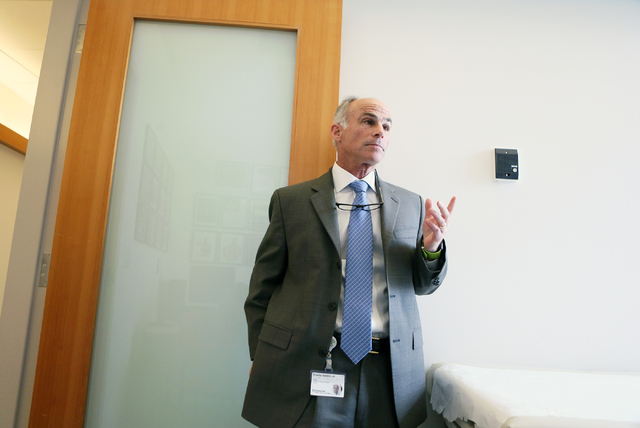Dr. Charles Bernick participates in an interview at Cleveland Clinic Lou Ruvo Center for Brain Health Thursday, April 28, 2016, in Las Vegas. (Ronda Churchill/Las Vegas Review-Journal)