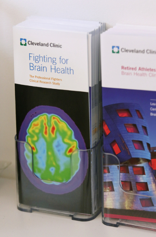 Pamphlets are shown at Cleveland Clinic Lou Ruvo Center for Brain Health Thursday, April 28, 2016, in Las Vegas. (Ronda Churchill/Las Vegas Review-Journal)