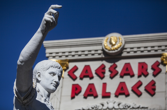 Caesars Palace, 3570 Las Vegas Boulevard South, is seen Wednesday, Jan. 14, 2015. (Jeff Scheid/Las Vegas Review-Journal)