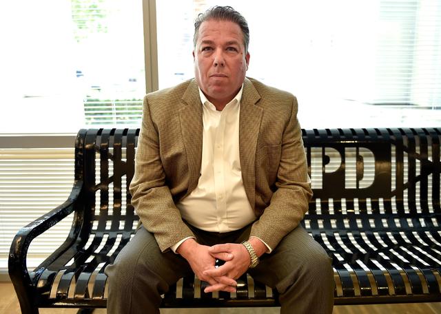 Las Vegas Metropolitan Police Capt. John McGrath sits in the lobby for an interview at Metro headquarters Friday, April 15, 2016, in Las Vegas. David Becker/Las Vegas Review-Journal Follow @davidj ...