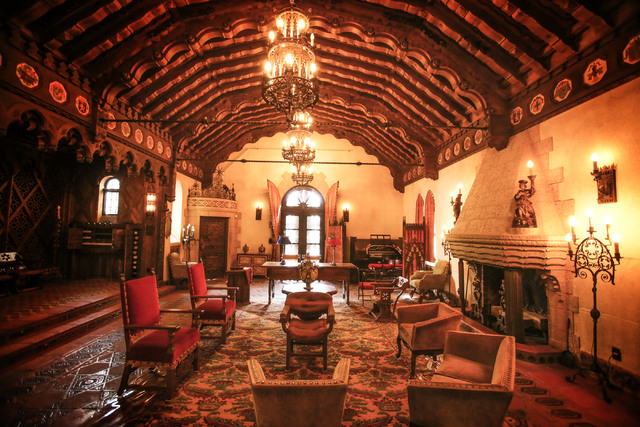 The music room in Scottyճ Castle at Death Valley National Park as seen Saturday March 9, 2013.  (Jeff Scheid/Las Vegas Review-Journal)