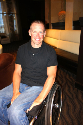 """Chris Sproule says that handcycling """"made me feel like me for the first time since I had been paralyzed."""" Diane Taylor/Special to View"""