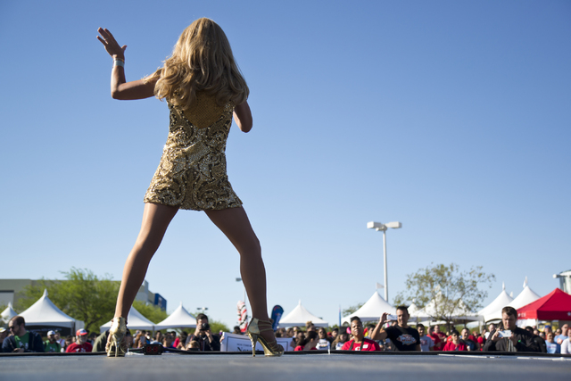 Sebastien Menard, performs on stage during the 26th annual Aid for AIDS of Nevada (AFAN) AIDS Walk Las Vegas at Town Square in Las Vegas on Sunday, April 17, 2016. (Daniel Clark/Las Vegas Review-J ...