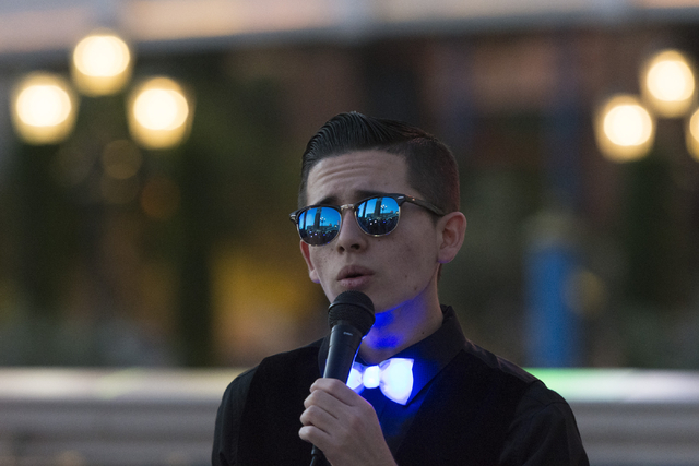 Miguel Ramirez sings during an event put on by Grant a Gift Autism Foundation to celebrate World Autism Awareness Day at the Venetian in Las Vegas Saturday, April 2, 2016. Jason Ogulnik/Las Vegas  ...