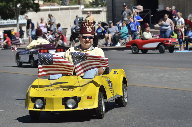A parade participant is shown during the Henderson Heritage Parade and Festival in downtown Henderson on Saturday, April 23, 2016. (Bill Hughes/Las Vegas Review-Journal)