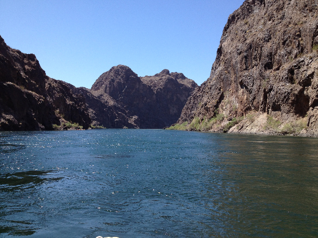 Black Canyon Water Trail, a 30-mile stretch of the Colorado River that travels from Hoover Dam to Eldorado Canyon, was recently designated part of the National Water Trail system. (Hali Bernstein  ...