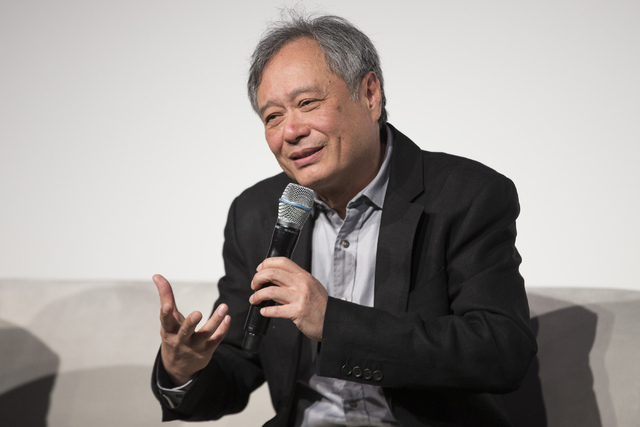 """Director Ang Lee speaks in the """"Pushing the Limits of Cinema"""" breakout session during the National Association of Broadcasters convention at the Las Vegas Convention Center on Saturday. (Erik Verd ..."""
