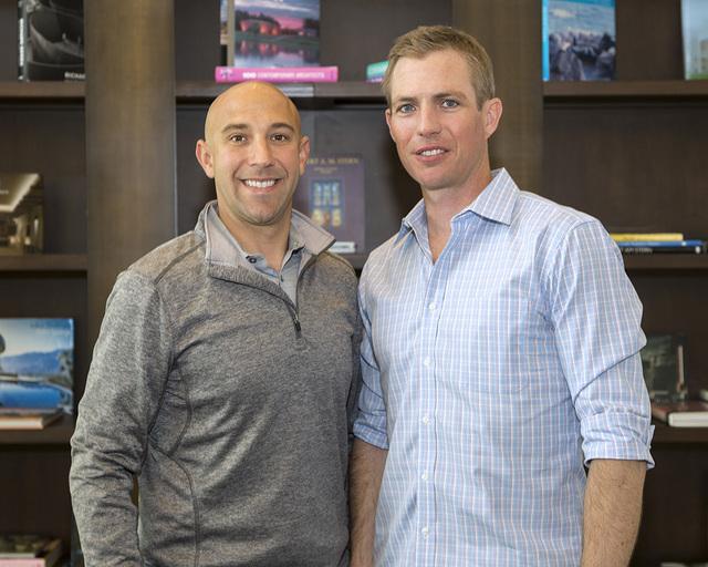 Left, John Miller owns Cast Wines in Dry Creek Valley in California's Sonoma area. He has been friends with Blue Heron Design Build co-founder Tyler Jones since childhood. (DAVID REISMAN/REAL ES ...