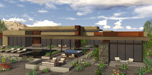 The home is designed for outdoor-indoor living. (COURTESY OF BLUE HERON DESIGN BUILD)