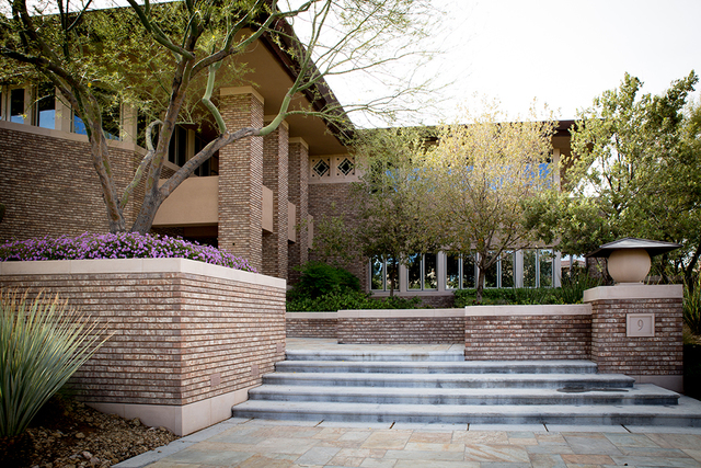 The Frank Lloyd Wright-style home has three-level and measures 9,411 square feet. It's listed for nearly $5 million. (Tonya Harvey/Real Estate Millions)