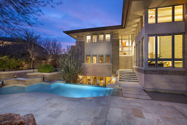Frank Lloyd Wright-style home is listed for nearly $5 million. (Synergy Sotheby's International Realty)
