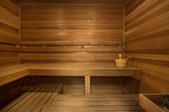 The home has a sauna. (Synergy Sotheby's International Realty)