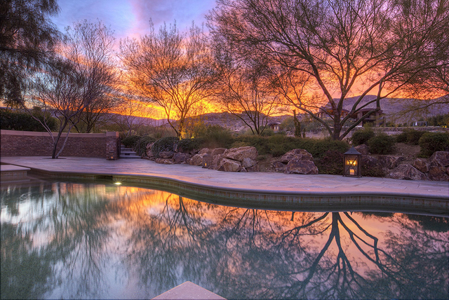 The Ridges home, which is owned by longtime Las Vegan and attorney John Gubler, has views of the Spring Mountains, Strip and golf course. It's listed from nearly $5 million. (Synergy Sotheby's Int ...