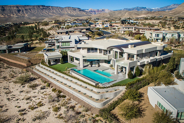 The 23 Hawk Ridge Drive is on the golf course with Strip views. (Courtesy Shapiro & Sher Group)
