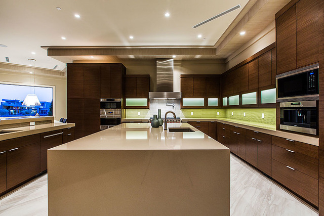 The kitchen is very modern. (Courtesy Shapiro & Sher Group)