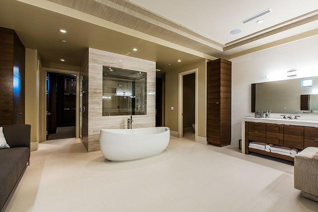 The master bath. (Courtesy Shapiro & Sher Group)