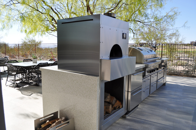 Luxury homeowner Jon Sparer said he uses the pizza oven often. (COURTESY OF LAGUNA POOL, SPA & LANDSCAPING)