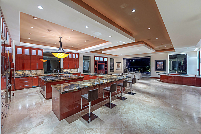 """Owner Bella DuPrie called the kitchen """"the heart"""" of her home in The Ridges. (Courtesy Simply Vegas)"""