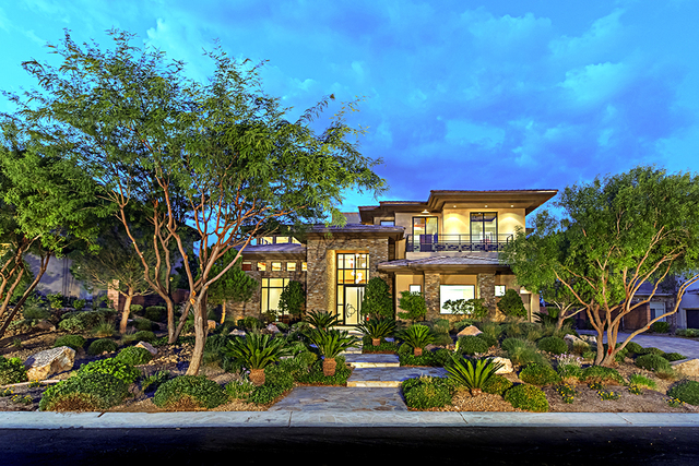 Richard Yukes and Bella DuPrie have listed their home in The Ridges for nearly $4.5 million. (Courtesy Simply Vegas)