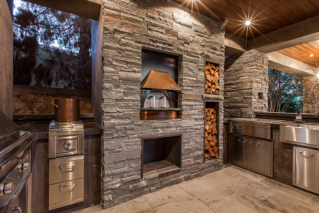 This home at the ridges has a pizza oven. (COURTESY OF SHAPIRO & SHER GROUP)