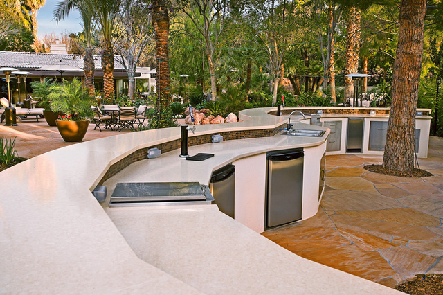 Terence Thornton, kitchen and landscape designer at Las Vegas-based Laguna Pool & Spa and Landscaping, said nearly 80 percent of the homes he designs have an outdoor kitchen. (COURTESY OF LAGU ...