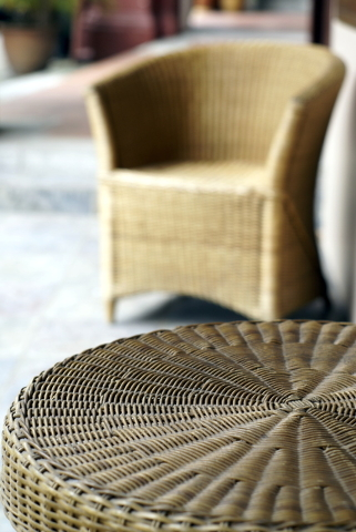 THINKSTOCK Wicker doesn't hold up well in hot desert conditions. If you wicker furniture feels brittle, use a mix of 2 cups boiled linseed oil and 1 cup turpentine to restore its luster.