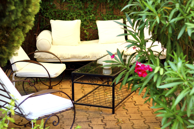THINKSTOCK Outdoor cushions bring their own dirty problems. If soap and water don't do the trick, a good scrub down with bleach should restore the life of the cushions. As a last resort, fabric  ...