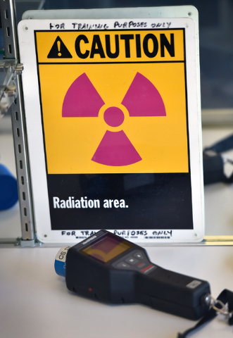 Equipment used to detect and prevent a nuclear incident is displayed at the Counter-Terrorism Operations Support training facility at the Nevada National Security Site on Wednesday, April 20, 2016 ...