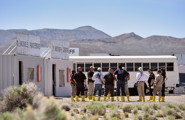 Students participate at the Counter-Terrorism Operations Support training facility at the Nevada National Security Site on Wednesday, April 20, 2016. (David Becker/Las Vegas Review-Journal) Follow ...