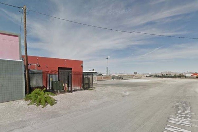 Nevada H & C Distilling Co. bought land near 418 W. Mesquite Ave. from the city of Las Vegas for distillery operation. (Google Street View)