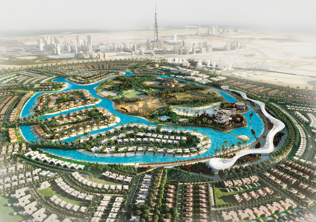 Crystal Lagoons 90-acre project at the Mohammed Bin Rashid City - District One residential community in Dubai is seen here. (Photo Business Wire)
