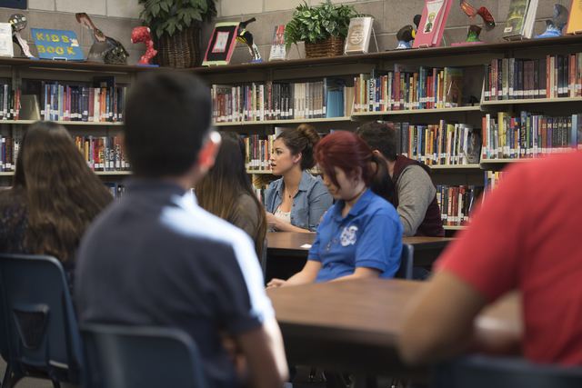 Students are seen during class at Global Community High School in Las Vegas on Wednesday, April 20, 2016. Global Community High School specializes in students transitioning into learning English.  ...